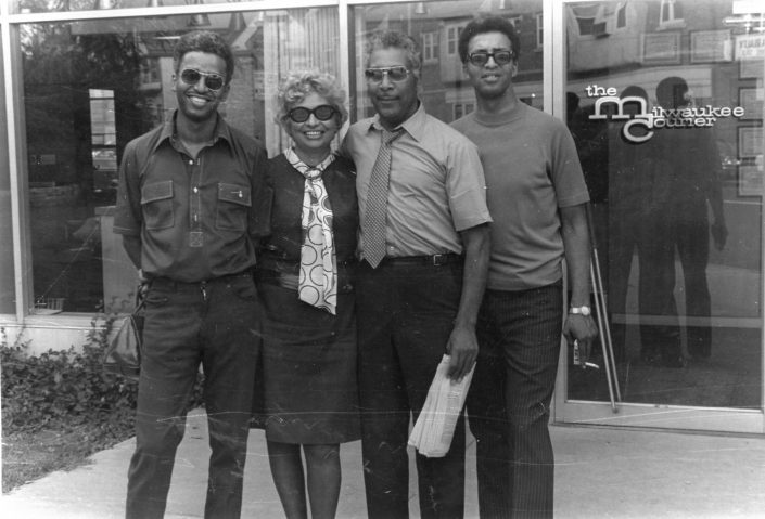 Alongside sons Douglas and Jerrel Jones and her husband James Strong