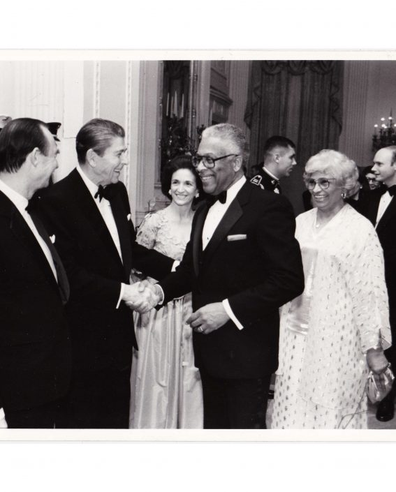 State Dinner at the White House with husband James Strong